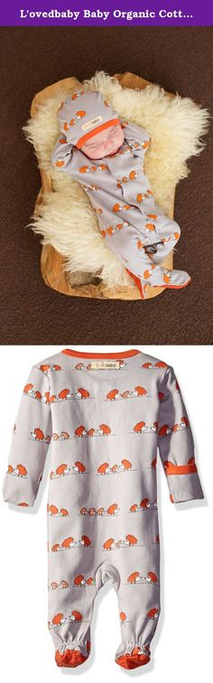 L'ovedbaby Baby Organic Cotton Footed Sleeper, Pumpkin Hedgehogs, 3-6 Months. This 100-percent organic cotton overall with feet is super-soft and offers a perfectly snug fit each time. In the NB, 0-3m and 3-6m sizes only, the garment has a fold-over, gloved-sleeve option for added warmth and protection from self-scratching. Sizes 6-9 and 9-12m, there are no fold-over options on the sleeves, since older babies need to have free hands to develop and explore. In all sizes, the garment has...