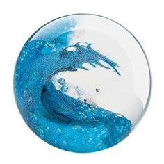 Glass Eye Studio Paperweight - Cresting Wave - 3
