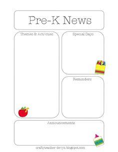 Newsletter Templates | The Crafty Teacher
