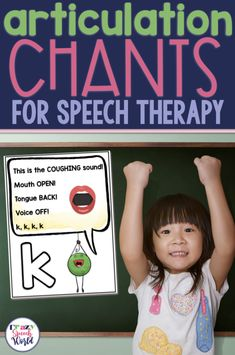 Articulation Chants for Speech Therapy will help your students better understand how to make their target sounds in a fun and engaging way! Preschool Speech Therapy, Articulation Therapy, Articulation Activities, Speech Activities, Speech Pathology, Speech Language Pathology, Speech Therapy Activities, Language Activities, Speech And Language