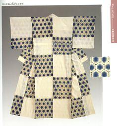 Turtle pattern kimono - Shibori dyeing technique  Dye Artist: Motohiko Katano Source: 絞り : 美を染める世界の技 : 名古屋市博物館開館15周年記念特別展 by Nagoya-shi Hakubutsukan