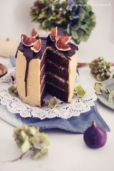 Brownie Fig Cake with Peanutbutter White Chocolate Frosting and a new dress