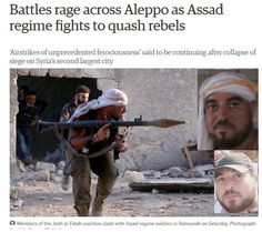 Today 'The Guardian' used a known child beheader as a poster boy for #Aleppo 'rebel' advance...