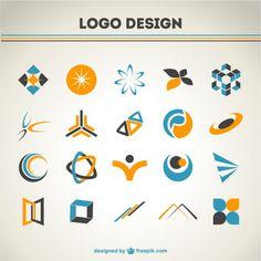 Livre coleção logotipos abstratos