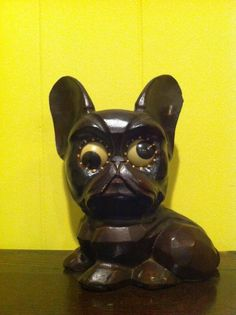 Vintage Oswald Boston Terrier Rolling Eye Clock Made in Germany