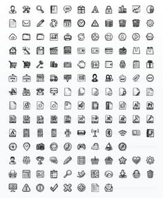 Hand Drawn Sketch Icon Set