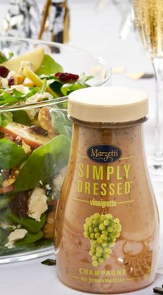 Our Simply Dressed Champagne Dressing. Pairs perfectly with the new year.