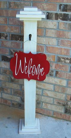 Decorative Sign post Porch Post Decorative by craftigirlcreations