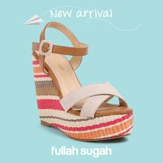 FULLAHSUGAH New Arrival  Χιαστί πλατφόρμες με ρίγες | 1447100814  #fashion #shoes #trends #fullah_sugah #wedges #style