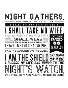 Night's Watch Oath. So badass.