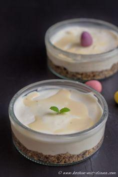 Eierlikör-Cheesecake im Glas  #Rezept #Küchenplausch #Ostern #Easter