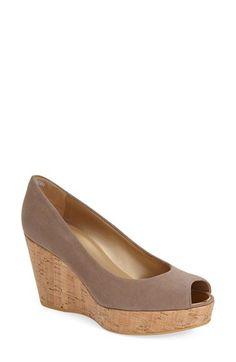 Stuart Weitzman Stuart Weitzman 'Anna' Peep Toe Platform Wedge (Women) available at #Nordstrom
