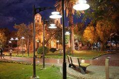 Plaza de Luján, Mendoza, Argentina. Mendoza, Beautiful Places, Plaza, City, Outdoor Decor, Sun, Argentina, St Louis, Earth