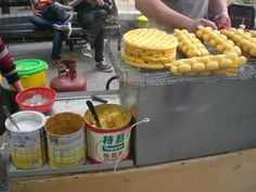 Another style of #HongKong #waffle is the #eggette or gai daan jai (#鷄蛋仔), which have a ball-shaped pattern.