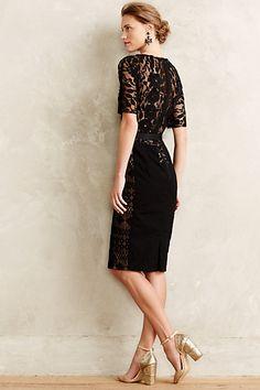Black Lace Dress. Carissima Sheath - anthropologie.com