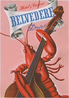 Hotel & Casino Belvedere, Davos (80mm x 56mm)  Artwork by Charles Kuhn.