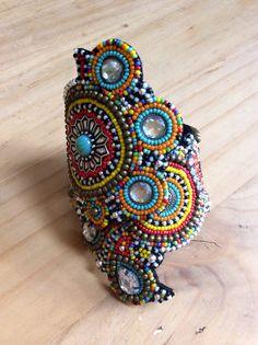Beadwork+Cuff+Bracelet+Tribal+Bracelet+Boho+by+perlinibella