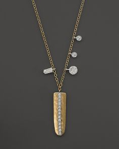 """Meira T 14K Yellow Gold Nugget Diamond Necklace, 16"""" on shopstyle.com"""