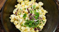 Verdens-beste-blomkålsalat Cauliflower Salad, Scampi, Guacamole, Potato Salad, Side Dishes, Cabbage, Salads, Food And Drink, Low Carb