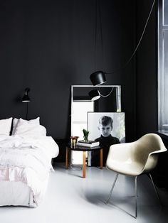 Tour an Elegant Swedish Space With a Moody Vibe via @mydomaine