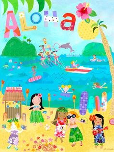 Dress up a bare wall with the Aloha Girls Canvas Wall Art from Oopsy Daisy. Canvas wall art is perfect for adding color and style to bedrooms, playrooms, nurseries and even bathrooms!