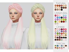 Sims 4 Hairs ~ The Sims Resource: Anto`s Surrender hair retextured by Kalewa-a Sims 4 Toddler, Toddler Hair, Sims 4 Cas, Sims Cc, Sims 4 Piercings, Sims 4 Cc Folder, The Sims 4 Cabelos, Pelo Sims, Sims 4 Bedroom
