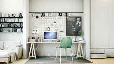 This office inlet allows the creation of a new space. Work necessities find…