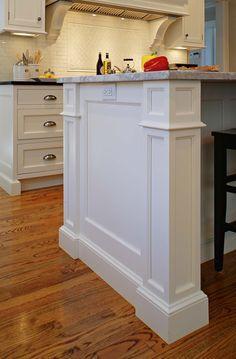"Kitchen - island edges 5"" on each - heidi piron cabinetry"