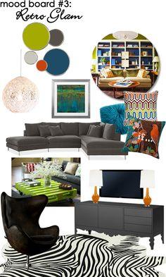 Family Room Mood Board: Retro Glam