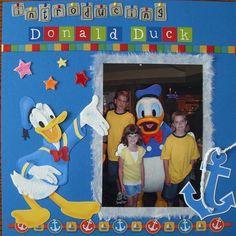 DISNEY SCRAPBOOK -donald duck layout