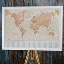 Antique World Map Wedding Table Plan