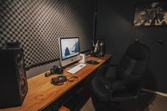 Desk submission by Fzeropointzero.Here's where I work on videos and photos. In this shot:2009 iMac Fuji XT-1 Fuji X100 Polk bookshelf speakers mbox Dynamic mic and stand