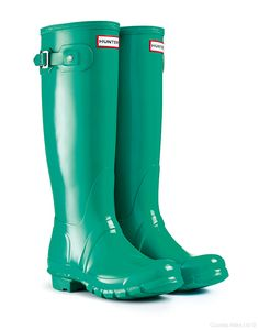 Hunter Original Tall Gloss Wellington Boots – Jade