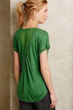 Chiffon-Spliced Tee - anthropologie.com #anthrofave
