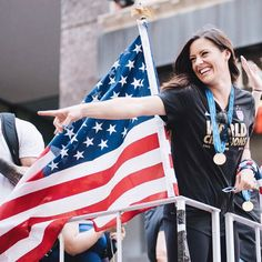 It was an honor to make history with @ussoccer_wnt at the NYC Ticker Tape Parade!! Thank you to the best fans in the world, to fabulous NYC and to @mattmarquez for capturing this moment on one of the best days of my life! I haven't stopped smiling.. #CanyonOfHeroes