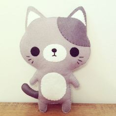 cat stuffed toy -cat plush - kawaii cat | http://best-stuffed-animals-family.blogspot.com