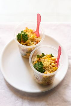 corn chaat or masala corn recipe. i have used sweet corn to make this chaat. corn chaat is a healthy snack and you can consider making it for kids or for your family