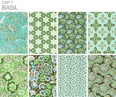 """These fabrics are all you need to get inspired to re-do a room. Love this whole collection called """"Basil""""."""