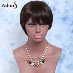 Short Straight Side Bang Synthetic Wig #>=#>=#>=#>=#> Click on the pin to check out discount price, color, size, shipping, etc. Save and like it!