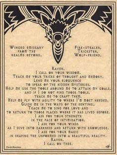 Raven Prayer Poster Wicca Pagan Witch Witchcraft Goth Punk Book of Shadows Animal Spirit Guides, Raven Spirit Animal, Wolf Spirit, Pagan Witch, Witches, Spiritus, Book Of Shadows, Witchcraft, Magick Spells