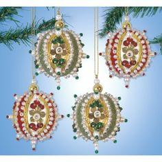 Mini Velvet Beaded Ornaments Kit