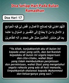Doa hari 17 Ramadhan Dua For Ramadan, Ramadhan Quotes, Doa Islam, Allah, Eid, Places, Projects, Log Projects, Lugares