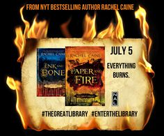 Rachel Caine's Paper and Fire, out July 5!