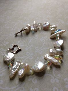 Genuine Pearl and Swarovski Crystal Choker and by TLCadornments