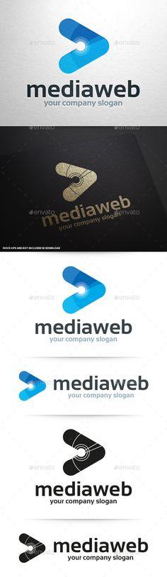 Media Web Logo Tempalte #design #logotype Download: http://graphicriver.net/item/media-web-logo-template/11089059?ref=ksioks