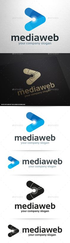 Media Web Logo Tempalte #design #logotype Download: http://graphicriver.net/item/media-web-logo-template/11089059?ref=ksioks