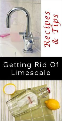 Easy Ways to Remove Limescale with Basic Pantry Items....For Crusty Tap Fixtures and Shower Heads, For Tap Openings, Small Appliances, Large Appliances, Toilet Rings and Stains.