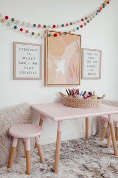 Playroom Design, Kids Room Design, Playroom Decor, Kids Decor, Living Room Playroom, Playroom Table, Kids Bedroom Organization, Girls Room Wall Decor, Kids Bedroom Designs