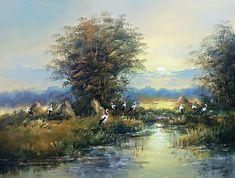 wiejskie klimaty w malarstwie – Obrazy olejne Fantasy, Landscape, Wordpress, Painting, Art, Craft Art, Imagination, Paintings, Kunst