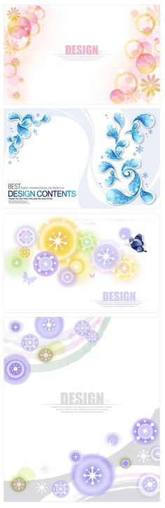 Decorative pattern circle shape backgrounds vector material